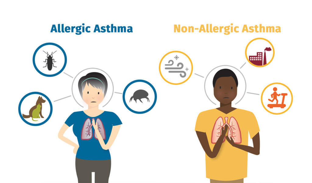 allergic asthma and non allergic asthma
