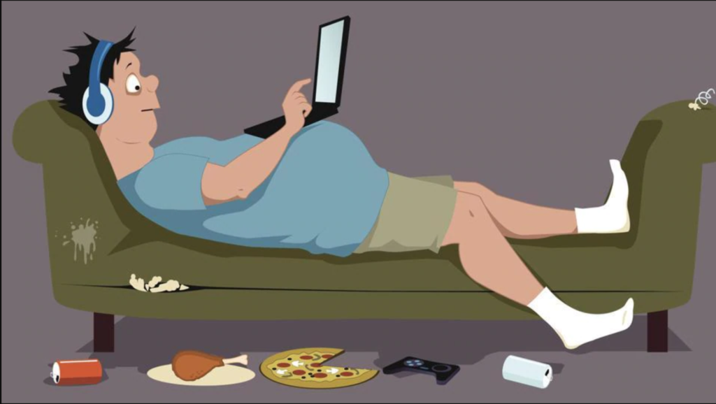 sedentary lifestyle - causes of high cholesterol